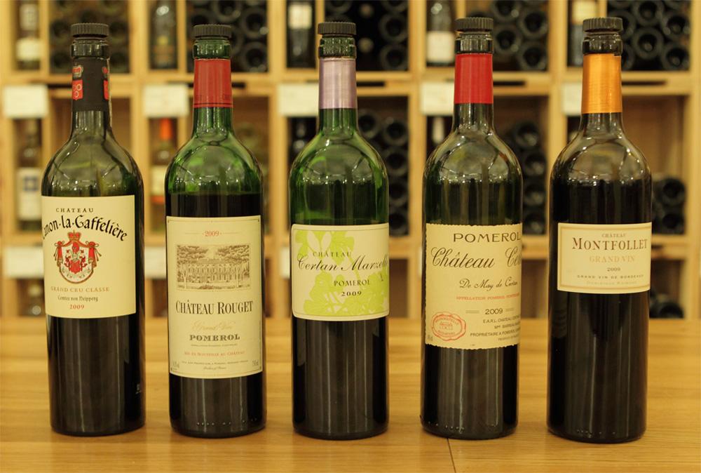 photo grand vin bordeaux 2009